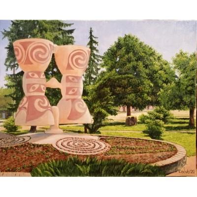 Картина «Трипольская аллея в Ржищеве»