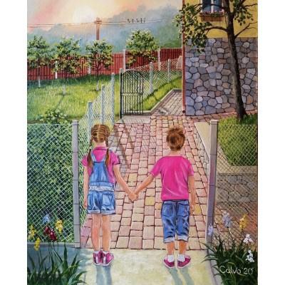 """Картина """"Розовые двойняшки"""""""
